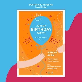 Modelo de folheto - feliz aniversário