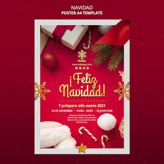 Modelo de folheto feliz navidad