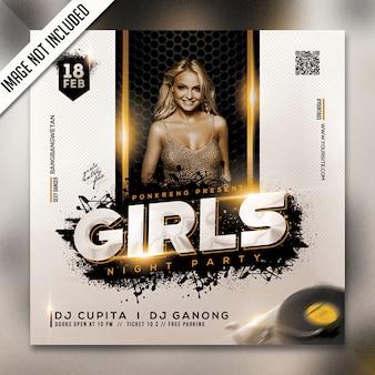 Modelo de folheto - festa da noite de meninas