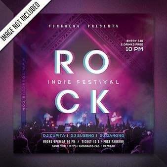Modelo de folheto - festa da noite do rock