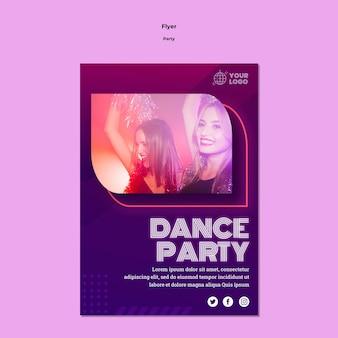 Modelo de folheto - festa de dança