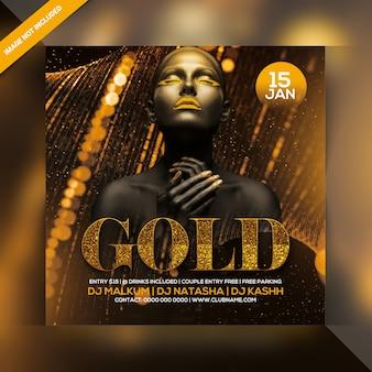 Modelo de folheto - festa de ouro