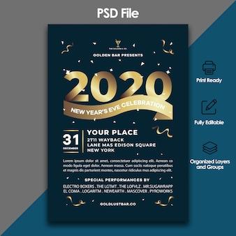Modelo de folheto - festa e celebração de ano novo