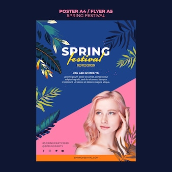 Modelo de folheto - festival da primavera