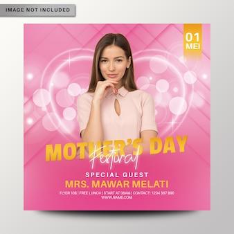 Modelo de folheto - festival do dia das mães