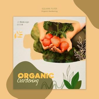 Modelo de folheto - jardinagem orgânica Psd grátis