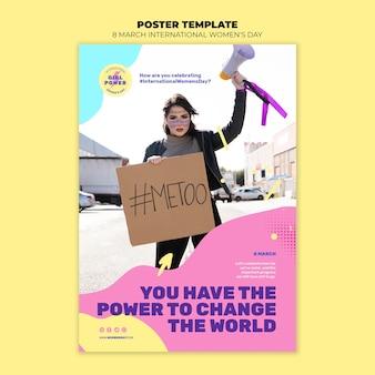 Modelo de folheto lindo para o dia da mulher com foto