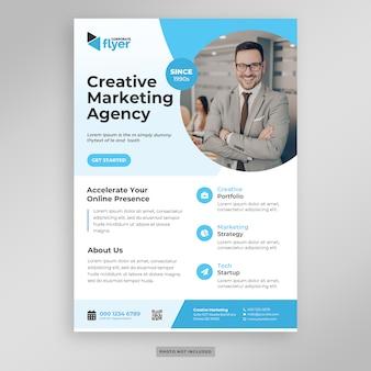 Modelo de folheto - marketing de negócios corporativos