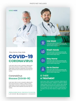 Modelo de folheto médico - campanha de coronavírus