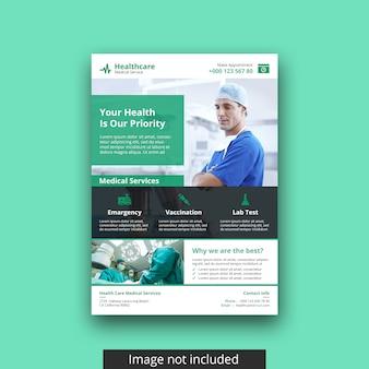 Modelo de folheto médico moderno