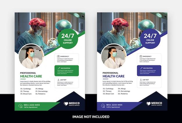Modelo de folheto - médico