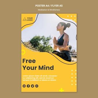 Modelo de folheto - meditação e atenção plena