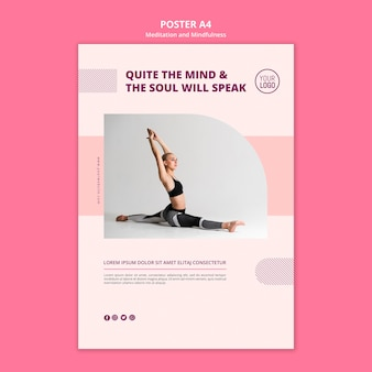 Modelo de folheto - meditação e ioga