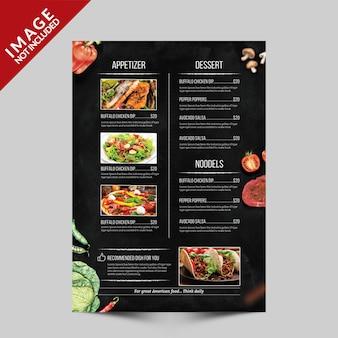 Modelo de folheto - menu alimentar lado c