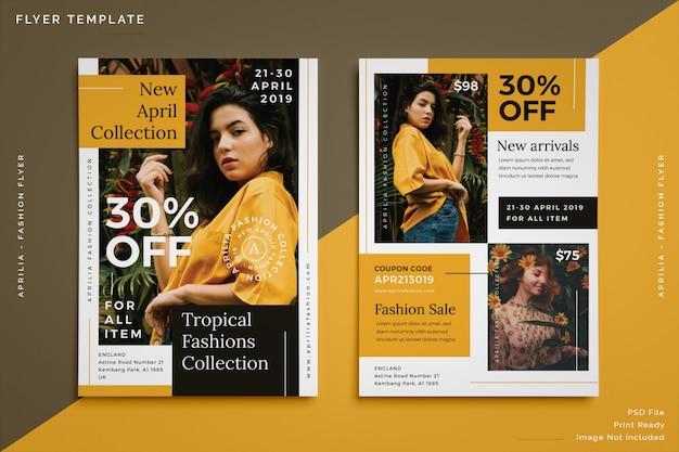Modelo de folheto - moda