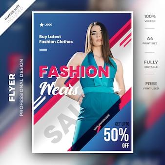 Modelo de folheto moderno de moda