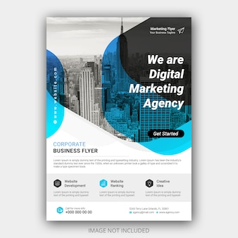 Modelo de folheto moderno negócio criativo a4
