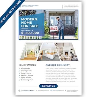Modelo de folheto - moderno