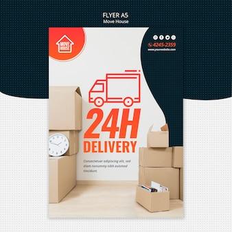Modelo de folheto - mover casa