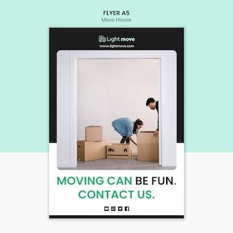 Modelo de folheto - mover pode ser divertido