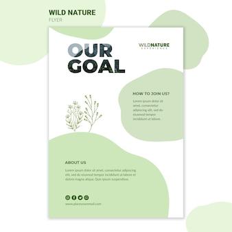 Modelo de folheto - natureza selvagem objetivo