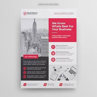 Modelo de folheto - negócio corporativo
