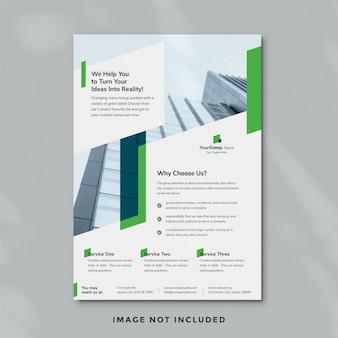 Modelo de folheto - negócios 17 Psd Premium