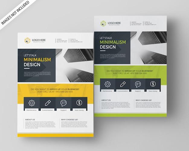 Modelo de folheto - negócios a4