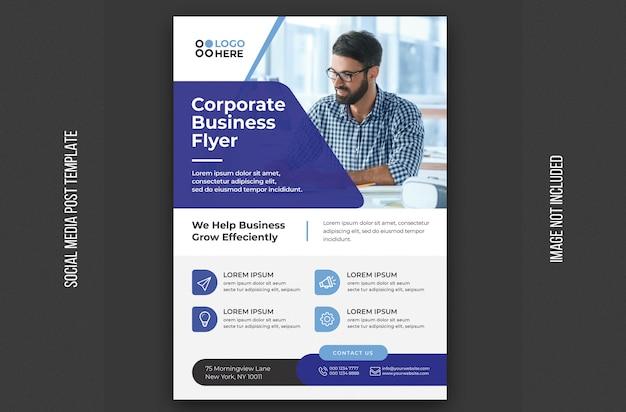 Modelo de folheto - negócios corporativos
