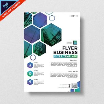 Modelo de folheto - negócios de design abstrato de geometria moderna