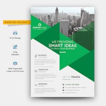Modelo de folheto - negócios de idéias inteligentes