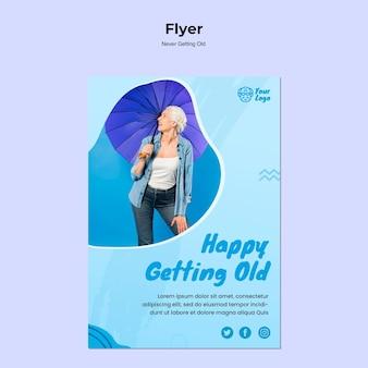 Modelo de folheto nunca ficando velho