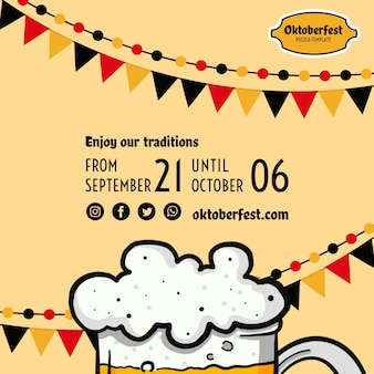 Modelo de folheto oktoberfest