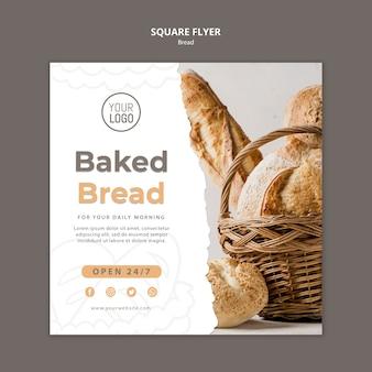 Modelo de folheto - pão