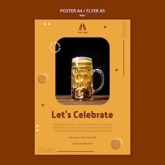 Modelo de folheto para cerveja fresca