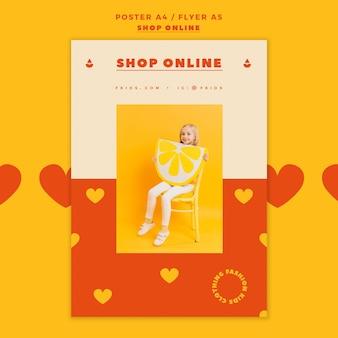 Modelo de folheto para compras online