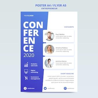 Modelo de folheto para conferência de negócios