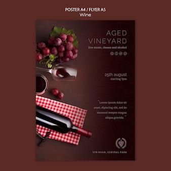 Modelo de folheto para degustação de vinhos
