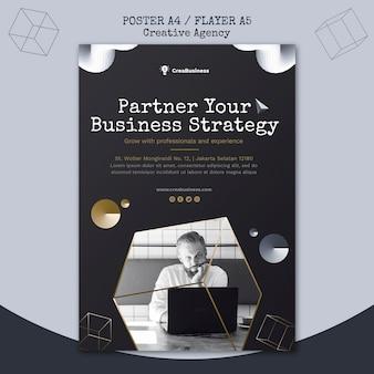 Modelo de folheto para empresa parceira de negócios