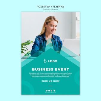 Modelo de folheto para evento de negócios