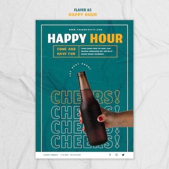 Modelo de folheto para happy hour
