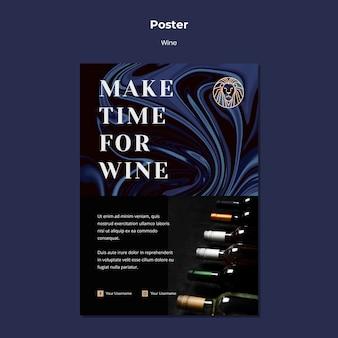 Modelo de folheto para negócios de vinho