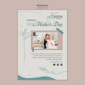 Modelo de folheto para o dia das mães
