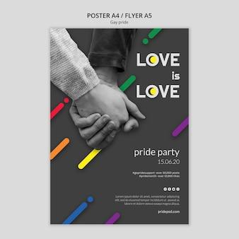 Modelo de folheto para orgulho gay