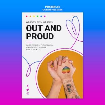 Modelo de folheto para orgulho lgbt