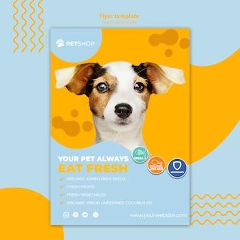 Modelo de folheto para pet shop