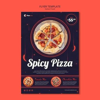 Modelo de folheto para restaurante de comida italiana