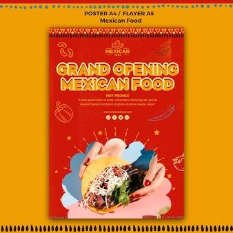 Modelo de folheto para restaurante de comida mexicana Psd grátis