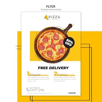 Modelo de folheto para restaurante de pizza