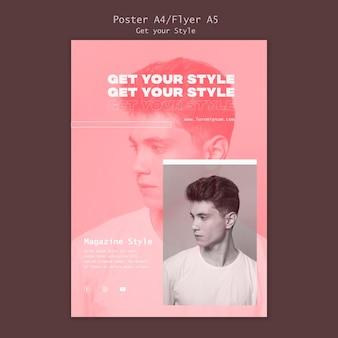Modelo de folheto para revista de estilo eletrônico